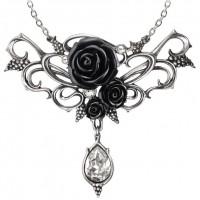 Bacchanal Black Rose Victorian Necklace