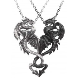 Draconic Tryst Double Dragon Gothic Friendship Necklace Step Out of Time Steampunk and More Steampunk Costumes, Victorian Clothing, Pirate Costumes, Renne Faire Clothing