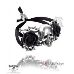 Skull and Briar Rose Pewter Dreadpunk Bracelet Step Out of Time Steampunk and More Steampunk Costumes, Victorian Clothing, Pirate Costumes, Renne Faire Clothing