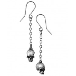 Deadskull Pewter Skull Drop Gothic Earrings Step Out of Time Steampunk and More Steampunk Costumes, Victorian Clothing, Pirate Costumes, Renne Faire Clothing