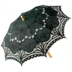 Black Battenburg Lace Parasol Step Out of Time Steampunk and More Steampunk Costumes, Victorian Clothing, Pirate Costumes, Renne Faire Clothing