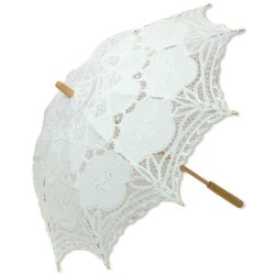 White Battenburg Lace Parasol Step Out of Time Steampunk and More Steampunk Costumes, Victorian Clothing, Pirate Costumes, Renne Faire Clothing