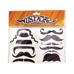 Mustache Temporary Tattoos Step Out of Time Steampunk and More Steampunk Costumes, Victorian Clothing, Pirate Costumes, Renne Faire Clothing