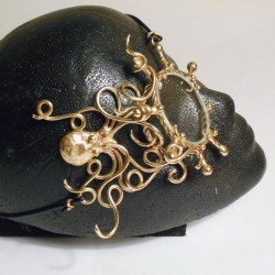 Octopus Bronze Steampunk Monocle Step Out of Time Steampunk and More Steampunk Costumes, Victorian Clothing, Pirate Costumes, Renne Faire Clothing