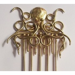 Octopus Bronze Steampunk Hair Comb Step Out of Time Steampunk and More Steampunk Costumes, Victorian Clothing, Pirate Costumes, Renne Faire Clothing