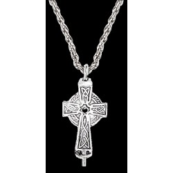 Celtic Cross Aromatherapy Diffuser Pendant Step Out of Time Steampunk and More Steampunk Costumes, Victorian Clothing, Pirate Costumes, Renne Faire Clothing