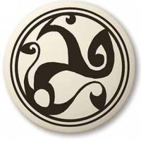Celtic Spirals Porcelain Round Necklace