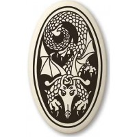 Dragon Oval Celtic Porcelain Necklace