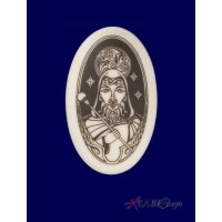 Merlin The Wizard Arthurian Legends Porcelain Necklace