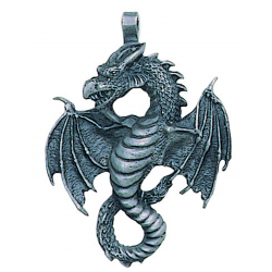 Air Dragon Pewter Necklace Step Out of Time Steampunk and More Steampunk Costumes, Victorian Clothing, Pirate Costumes, Renne Faire Clothing