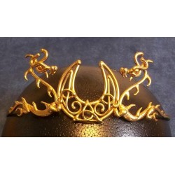 Dragon Moon Bronze Draconian Wiccan Circlet Step Out of Time Steampunk and More Steampunk Costumes, Victorian Clothing, Pirate Costumes, Renne Faire Clothing