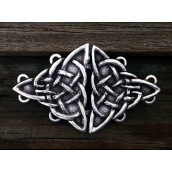 Celtic Triquetra Knot Cloak Clasp Step Out of Time Steampunk and More Steampunk Costumes, Victorian Clothing, Pirate Costumes, Renne Faire Clothing