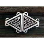 Celtic Triangular Knot Small Cloak Clasp at Step Out of Time Steampunk and More, Steampunk Costumes, Victorian Clothing, Pirate Costumes, Renne Faire Clothing