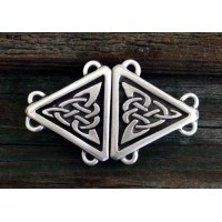 Celtic Triangular Knot Small Cloak Clasp