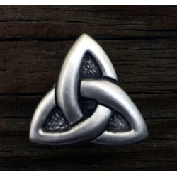 Celtic Triquetra Pewter Concho Step Out of Time Steampunk and More Steampunk Costumes, Victorian Clothing, Pirate Costumes, Renne Faire Clothing