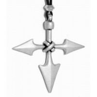 Barbarian Cross Pewter Necklace