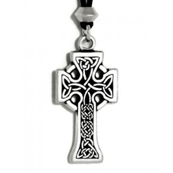 Celtic Knotwork Cross Pewter Necklace Step Out of Time Steampunk and More Steampunk Costumes, Victorian Clothing, Pirate Costumes, Renne Faire Clothing