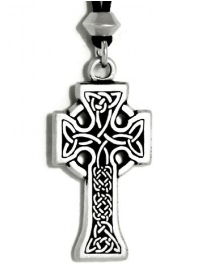 Celtic Knotwork Cross Pewter Necklace at Step Out of Time Steampunk and More, Steampunk Costumes, Victorian Clothing, Pirate Costumes, Renne Faire Clothing