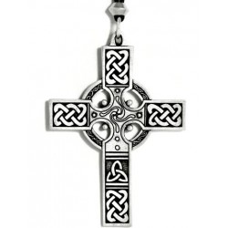 Celtic Cross Necklace - Large Step Out of Time Steampunk and More Steampunk Costumes, Victorian Clothing, Pirate Costumes, Renne Faire Clothing