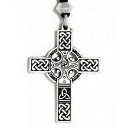 Celtic Cross Necklace - Small Step Out of Time Steampunk and More Steampunk Costumes, Victorian Clothing, Pirate Costumes, Renne Faire Clothing