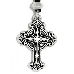Baroque Celtic Cross Necklace Step Out of Time Steampunk and More Steampunk Costumes, Victorian Clothing, Pirate Costumes, Renne Faire Clothing
