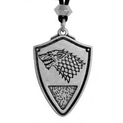 Dire Wolf: Winter is Coming Pewter Necklace Step Out of Time Steampunk and More Steampunk Costumes, Victorian Clothing, Pirate Costumes, Renne Faire Clothing