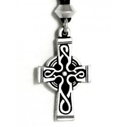 Celtic Cross Pewter Necklace Step Out of Time Steampunk and More Steampunk Costumes, Victorian Clothing, Pirate Costumes, Renne Faire Clothing
