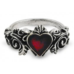 Betrothal Gothic Heart Pewter Ring Step Out of Time Steampunk and More Steampunk Costumes, Victorian Clothing, Pirate Costumes, Renne Faire Clothing
