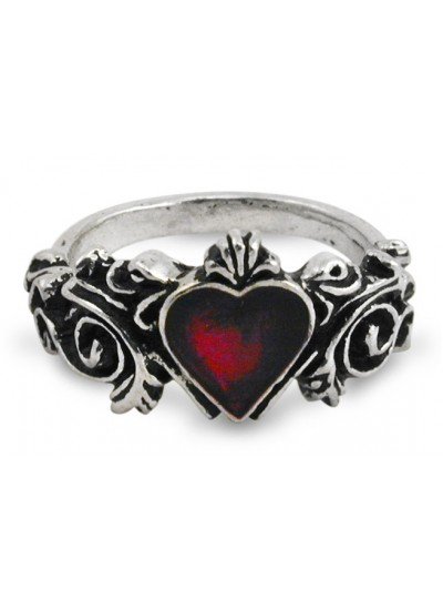 Betrothal Gothic Heart Pewter Ring at Step Out of Time, Steampunk Costumes, Victorian Clothing, Pirate Costumes, Renne Faire Clothing