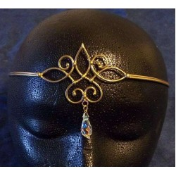 Bronze Circlet with Crystal Drop Step Out of Time Steampunk and More Steampunk Costumes, Victorian Clothing, Pirate Costumes, Renne Faire Clothing