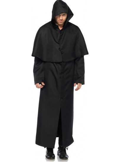 Hooded Button Front Coat