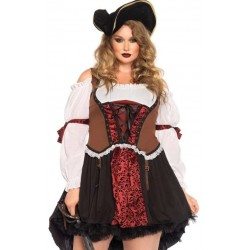 Ruthless Pirate Wench Plus Size Halloween Costume Step Out of Time Steampunk Costumes, Victorian Clothing, Pirate Costumes, Renne Faire Clothing