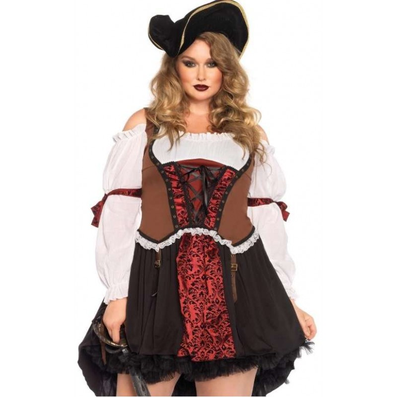 ruthless pirate wench plus size halloween costume at step out of time steampunk and more