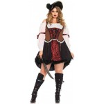 Ruthless Pirate Wench Plus Size Halloween Costume