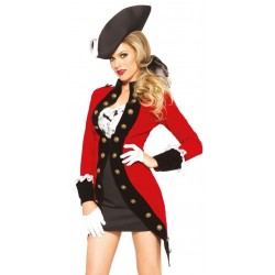 Rebel Red Coat Womens Pirate Costume Step Out of Time Steampunk Costumes, Victorian Clothing, Pirate Costumes, Renne Faire Clothing