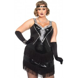 Glamour Flapper Roaring 20s Plus Size Costume Step Out of Time Steampunk and More Steampunk Costumes, Victorian Clothing, Pirate Costumes, Renne Faire Clothing