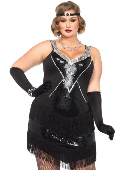 Glamour Flapper Roaring 20s Plus Size Costume