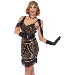 Speakeasy Sweetie Womens Flapper Costume Step Out of Time Steampunk Costumes, Victorian Clothing, Pirate Costumes, Renne Faire Clothing