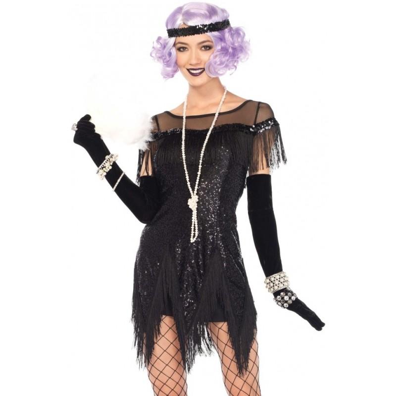 foxtrot flirt roaring 20s black flapper dress costume halloween