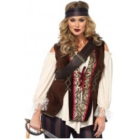 Captain Blackheart Plus Size Womens Pirate Costume