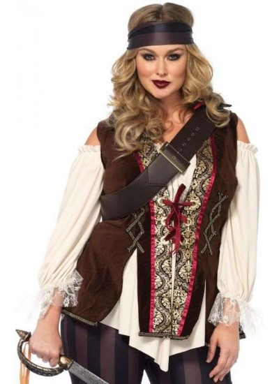 Captain Blackheart Plus Size Womens Pirate Costume at Step Out of Time, Steampunk Costumes, Victorian Clothing, Pirate Costumes, Renne Faire Clothing