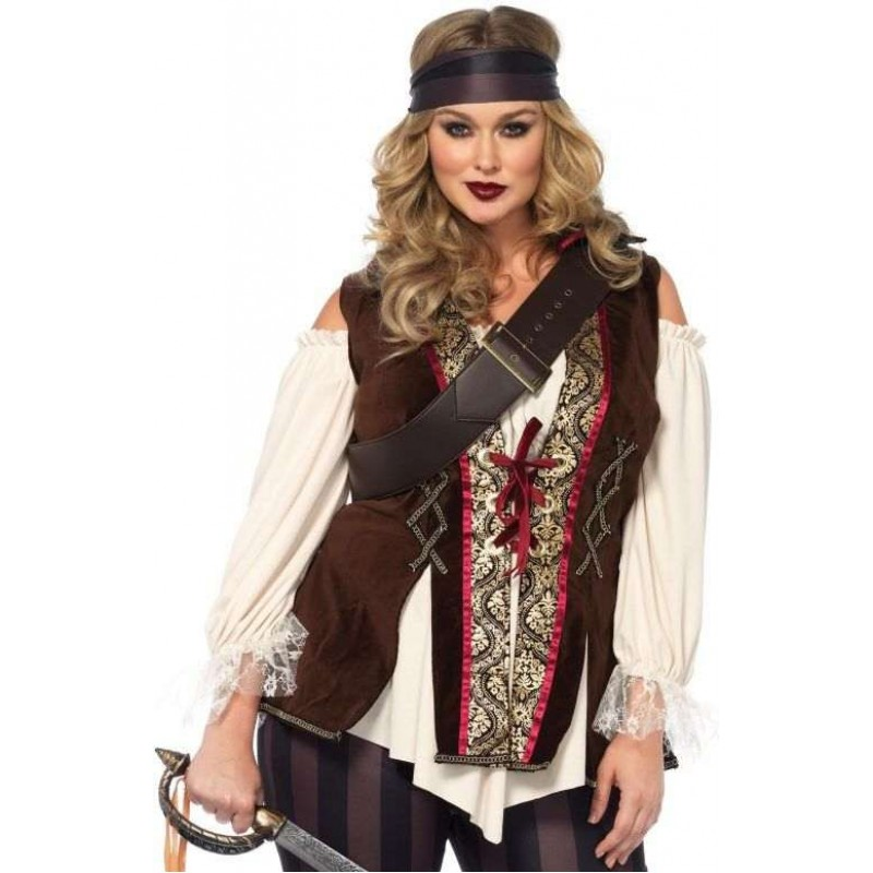 f7a1193c2b7 Captain Blackheart Plus Size Womens Pirate Costume at Step Out of Time  Steampunk and More