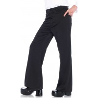 Mens Bllack Bell Bottom Disco Pants