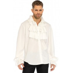 Ruffle Front Mens White Shirt Step Out of Time Steampunk and More Steampunk Costumes, Victorian Clothing, Pirate Costumes, Renne Faire Clothing