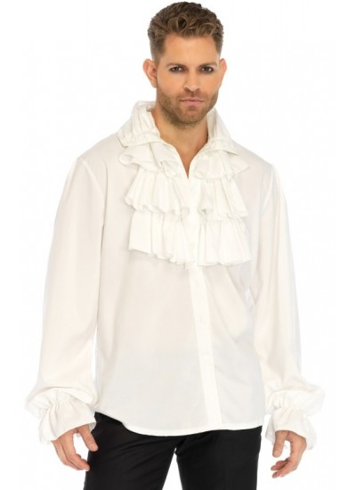 Ruffle Front Mens Shirt at Step Out of Time, Steampunk Costumes, Victorian Clothing, Pirate Costumes, Renne Faire Clothing