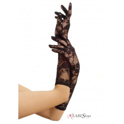 Black Elbow Length Lace Gloves Step Out of Time Steampunk and More Steampunk Costumes, Victorian Clothing, Pirate Costumes, Renne Faire Clothing