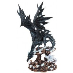 Daddy Time Black Dragon and Young Statue