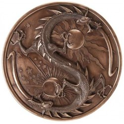 Double Dragon Alchemy Bronze Resin Plaque Step Out of Time Steampunk and More Steampunk Costumes, Victorian Clothing, Pirate Costumes, Renne Faire Clothing