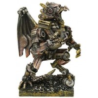 Steampunk Dragon Mech Statue