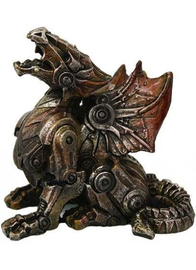 Steampunk Mechanized Small Dragon Statue at Step Out of Time Steampunk and More, Steampunk Costumes, Victorian Clothing, Pirate Costumes, Renne Faire Clothing